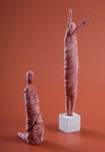 Gewandfiguren Terracotta H: 35 cm • 2001