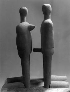 Paar Terracotta H: 80 cm • 1995
